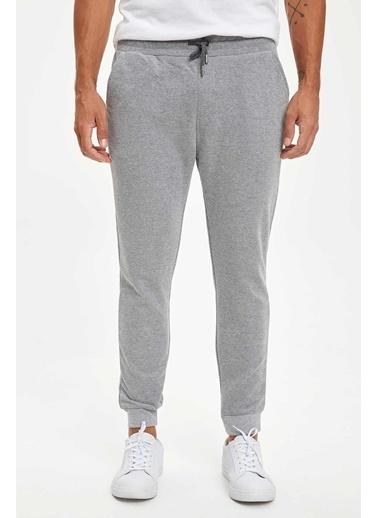 DeFacto Bağcıklı Slim Fit Jogger Pantolon Gri